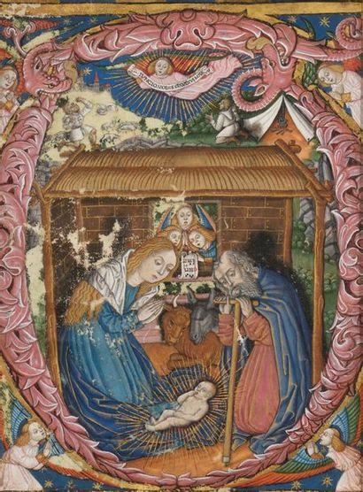 Ecole italienne du XVIème siècle La Nativité...