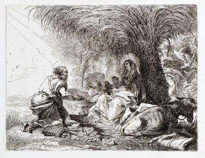Giovanni Domenico TIEPOLO (1727 - 1804) IDEE PITTORESCHE SOPRA LA FUGA IN EGITTO....
