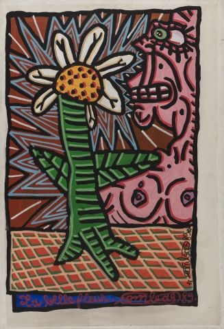 Robert COMBAS (né en 1957) Renifle la fleur,...