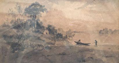 Hector Ch. HANOTEAU (1823 - 1890)  Maison...
