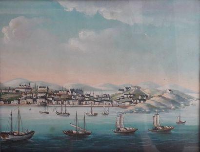 Ecole Napolitaine du XXème siècle  Paysage...