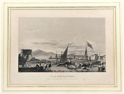 Vue du port de Saint Tropez prise du chantier...