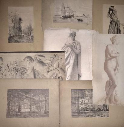 Gérard Vergaert (école belge XIX-XX) et autres...