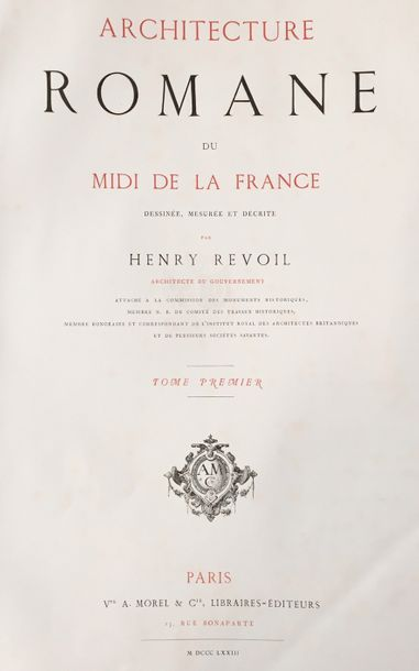 Henry REVOIL (1822 - 1900)  Architecture...