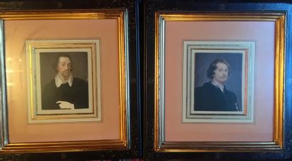 Deux portraits d'après Van Dyck  XIXe siècle...