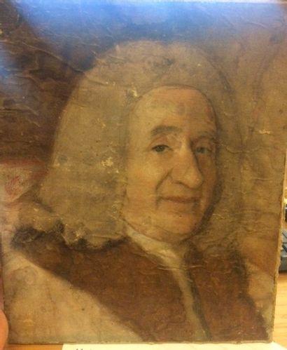 Ecole anglaise du XIXe  Portrait d'homme...