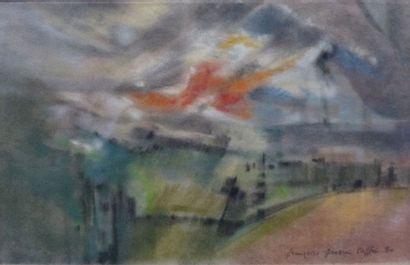 Françoise GRASSIN TAFFIN (1927- ….)  Paysage...