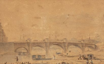 Victor-Jean NICOLLE (1754-1826)  Le Pont-Neuf...