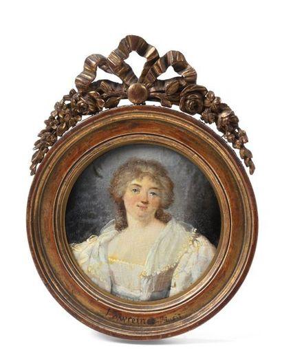 LAWREIN  Portrait de femme  Peinture à vu...