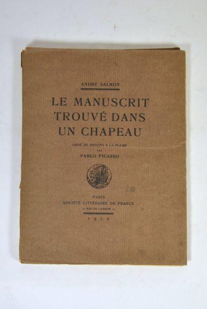 SALMON (André) & PICASSO. Le Manuscrit trouvé dans un chapeau. Orné de dessins à...