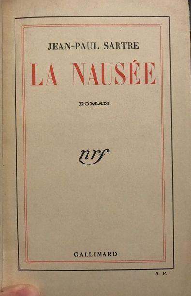 SARTRE (Jean-Paul). La Nausée. Roman. Paris, Gallimard, [1938].  In-8 de 223 pp....