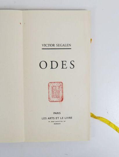 SEGALEN (Victor). Stèles . Pei-King [sl], Presses du Pei-t'ang [Editions Chatelain-Julien],...