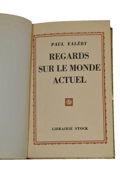 VALERY (Paul). Regards sur le monde actuel. Paris, Stock, 1931.  In-8 cartonnage...