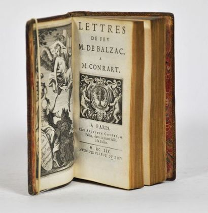 BALZAC (Jean-Louis Guez, seigneur de). Lettres à M. Conrart. Paris, Augustin Courbé,...