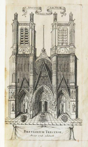 Breviarium Trecense. Pars Aestiva. Trecis [Troyes], Briden, 1718. In-12 maroquin...