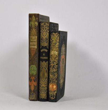 Cartonnages romantiques. Ensemble de 3 volumes en cartonnage romantique :  - MARCO...