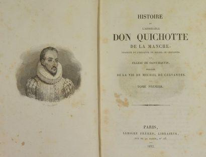 CERVANTES (Miguel de). Histoire de l'admirable Don Quichotte de la Manche, traduite...