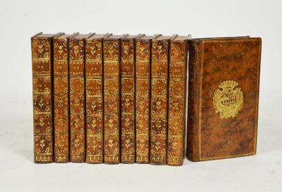 DESTOUCHES (Philippe Néricault). Oeuvres dramatiques. Paris, Prault, 1758.  10 vol....