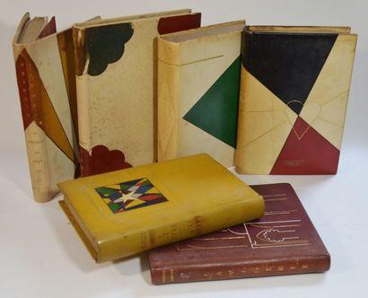 JAMMES (Francis). Ensemble de 6 volumes dans de sympathiques reliures mosaïquées...