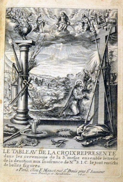 MAZOT (Fr.). Le tableau de la Croix représenté...