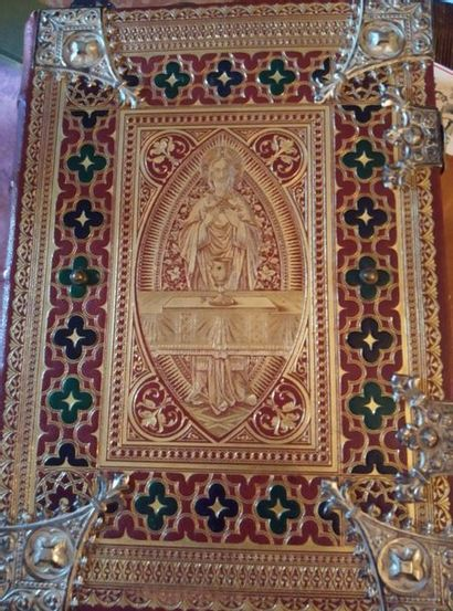 Missale Romanum. . Ratisbonne, Rome, New York & Cincinnati, Pustet, 1908.  In-4...