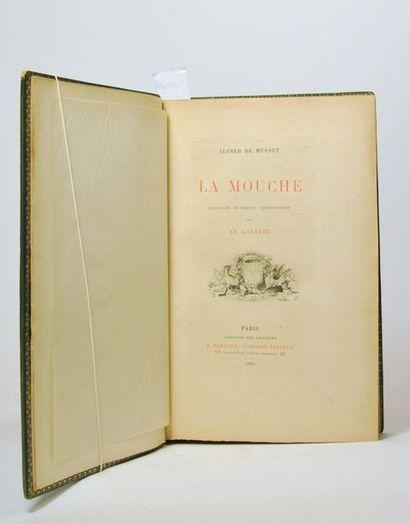 MUSSET (Alfred de) & LALAUZE (Alphonse). La mouche. Paris, Ferroud, 1892.  In-4...