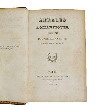 [Reliure à la cathédrale]. Annales romantiques. Paris, Janet, 1831.  Petit in-12...
