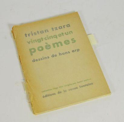 ARP (Hans) & TZARA (Tristan). Vint-cinq-et-un poèmes. sl, éditions de la revue Fontaine,...