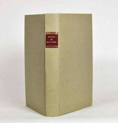 [Franc-maçonnerie - HUTCHINSON (William)]. The Spirit of Masonry in moral et elucidation...