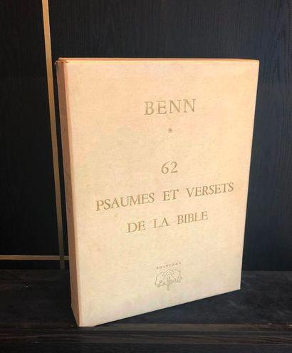 BENN. 62 psaumes et versets de la Bible, préface de Jules Romains de l'Académie...