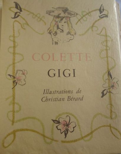 BERARD (Christian) & COLETTE. Gigi. Paris, sn, 1950.  Grand in-4 en ff., couv. illustrée...