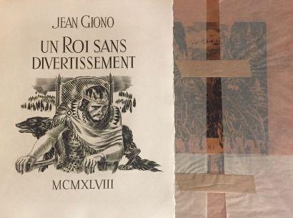 DECARIS (Albert) & GIONO (Jean). Un Roi sans...