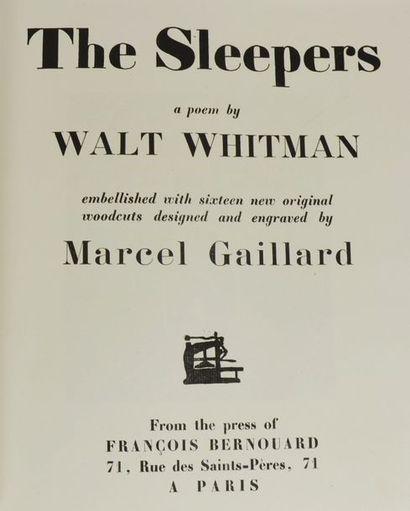 GAILLARD (Marcel) & WHITMAN (Walt). The Sleepers....