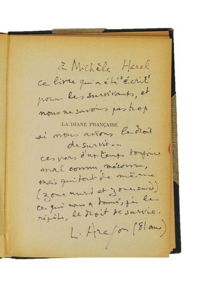 ARAGON (Louis). La Diane Française. Paris, Pierre Seghers, 1945.  In-8 cartonnage...