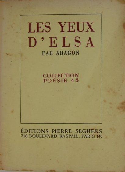 ARAGON (Louis). Les Yeux d'Elsa. Paris, Pierre...