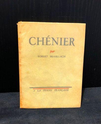 BRASILLACH (Robert). Chénier. Paris, La Pensée...