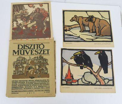 [Hongrie]. Diszito Muveszet. n°5. Budapest,...
