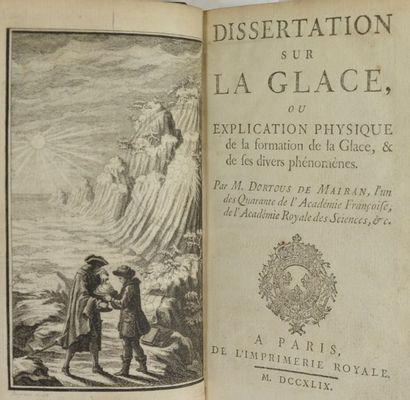 MAIRAN (Jean-Jacques Dortous de). Dissertation...