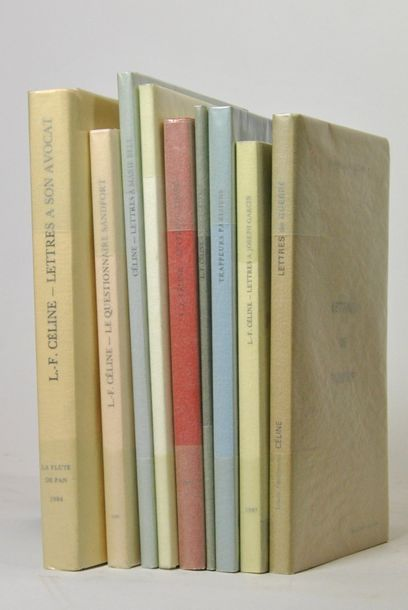 CELINE (Louis-Ferdinand). 9 volumes in-8...