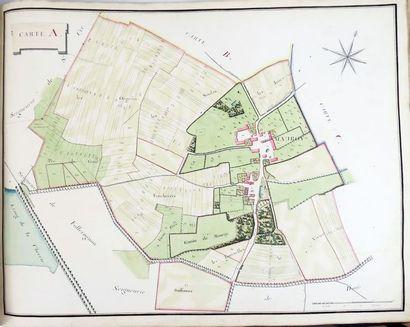 [Seine-et-Marne]. Atlas des plans des Seigneuries...