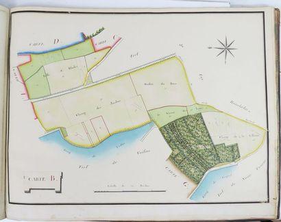 [Seine-et-Marne]. Atlas des plans des Seigneuries de Mauroy, Chantemerle, La Chaussée,...