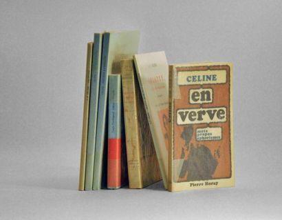 CELINE (Louis-Ferdinand). Ensemble de 7 volumes...