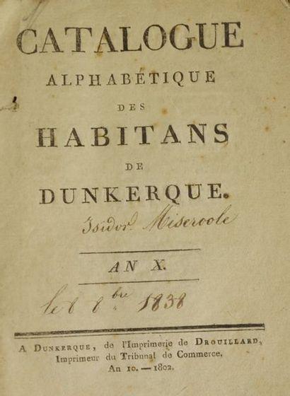 [Dunkerque]. Catalogue des habitans de Dunkerque....
