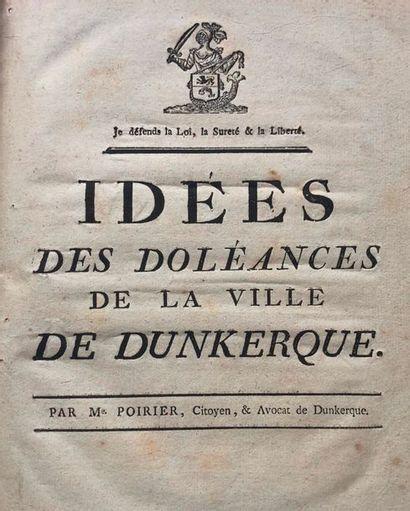 Dunkerque. Lot de 4 plaquettes XVIIIe siècle...