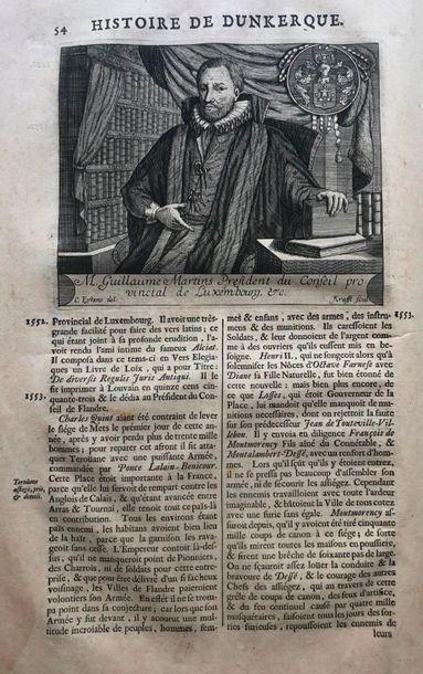 Dunkerque - FAULCONNIER (Pierre). Description historique de Dunkerque… Bruges en...