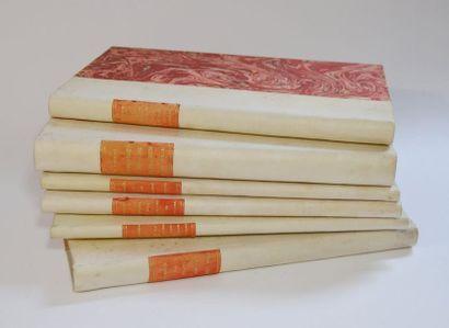 Normandie. Lot de 6 volumes in-8 ½ vélin ivoire, p. de titre (qqs piqûres) :  -...