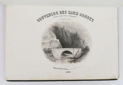 Pyrénées - PETIT (Victor). Souvenirs des Eaux-Bonnes. [Et] Souvenirs des Eaux-Chaudes....