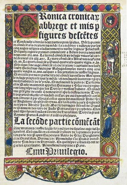 Cronica Cronicarum. abbrege et mis par figures...