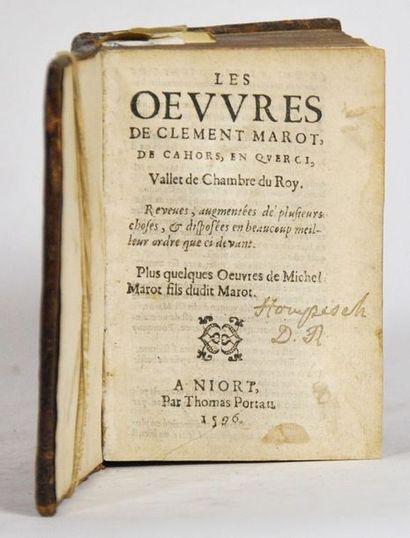 MAROT (Clément). Les Œuvres… reveues, augmentées...