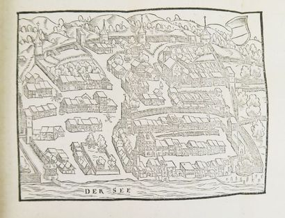 SIMLER (Josias). De Republica Helvetiorum. Zurich, Froschauer, 1576.  In-12 de (8),...